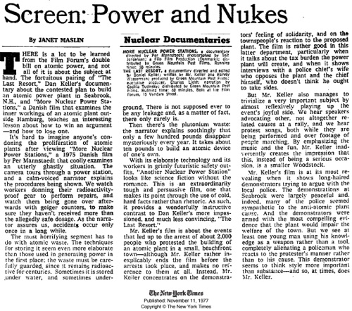 NEW YORK TIMES MORE NUCLEAR POWER STATIONS